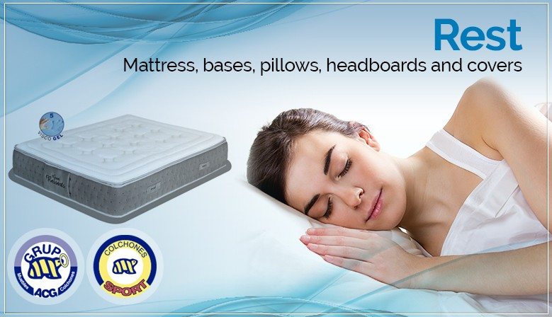 Rest - Mattress, bases, pillows, headboards and covers