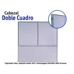 Cabezal tapizado Doble Cuadro 150