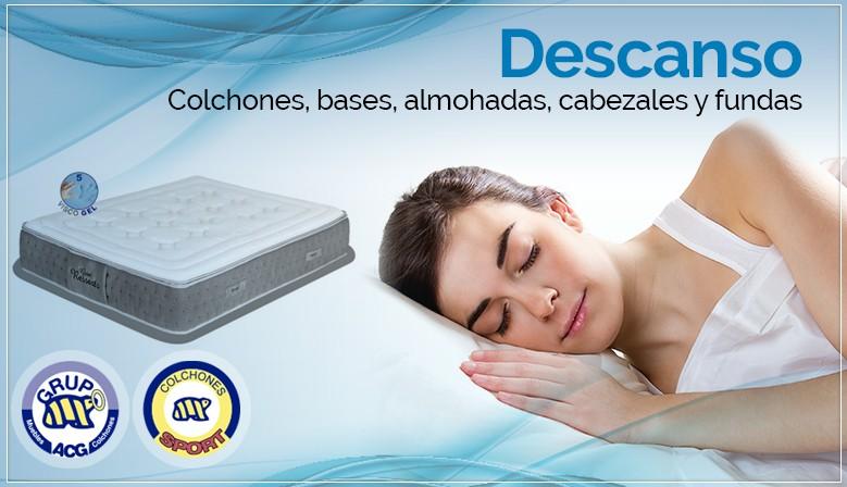 Descanso - Colchones, bases, almohadas, cabezales y fundas